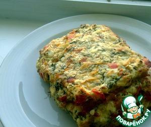 Рецепт Куриный торт с творожно-овощной начинкой