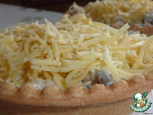 """Салат в тарталетках """"Нежный"""" – кулинарный рецепт"""