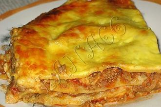Рецепт: Лазанья с мясом