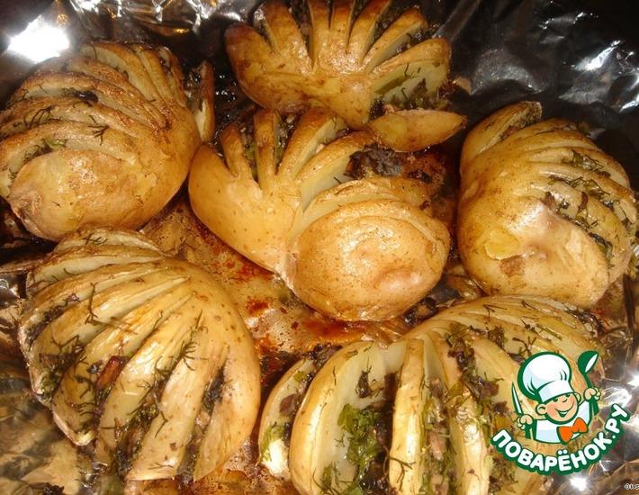 Рецепт: Картофель Гармошка