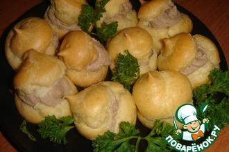 Рецепт: Заварные пирожные с куриным паштетом