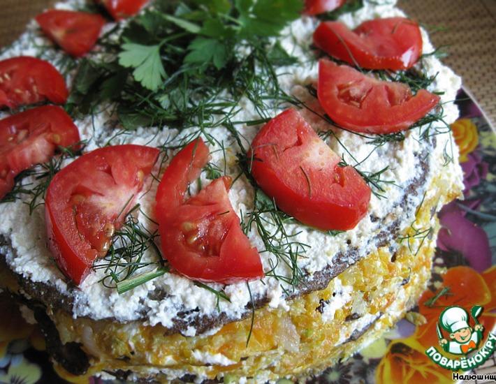 Рецепт: Печеночный торт от Надюшищи