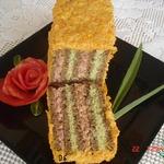 Бутербродный торт Полосатик