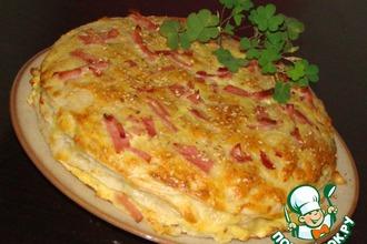 Рецепт: Закусочный торт Сырное суфле