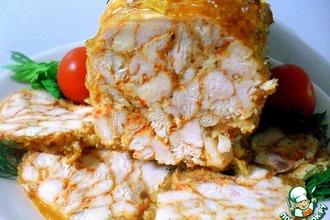 Рецепт: Рулет из курицы Мраморный