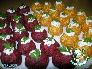 Appetizer of beets and carrots
