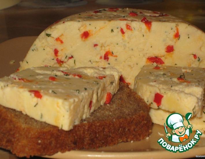 Рецепт: Твердый сыр с перцем и укропом
