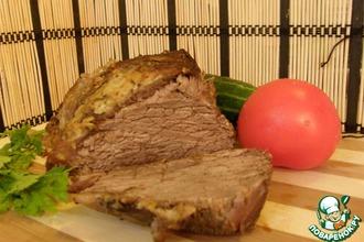 Рецепт: Маринад для говядины, запеченной в рукаве