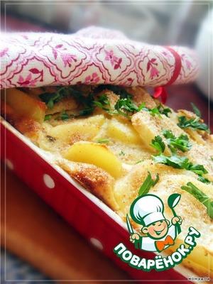 Курица, запеченная с картофелем