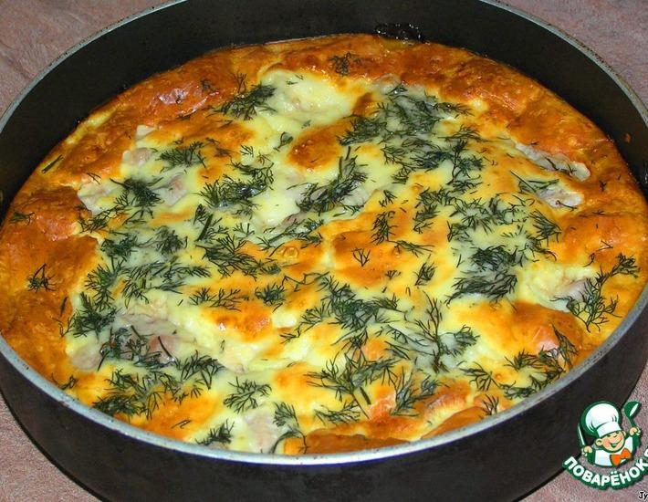 Рецепт: Курица в яично-сырной заливке
