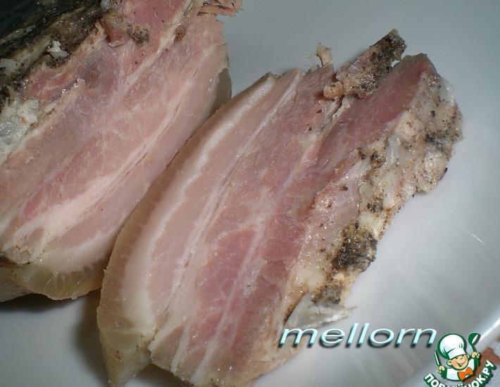 Рецепт: Свиная грудинка в двух пакетах