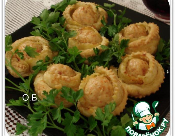 Рецепт: Закуска Букет чайных роз