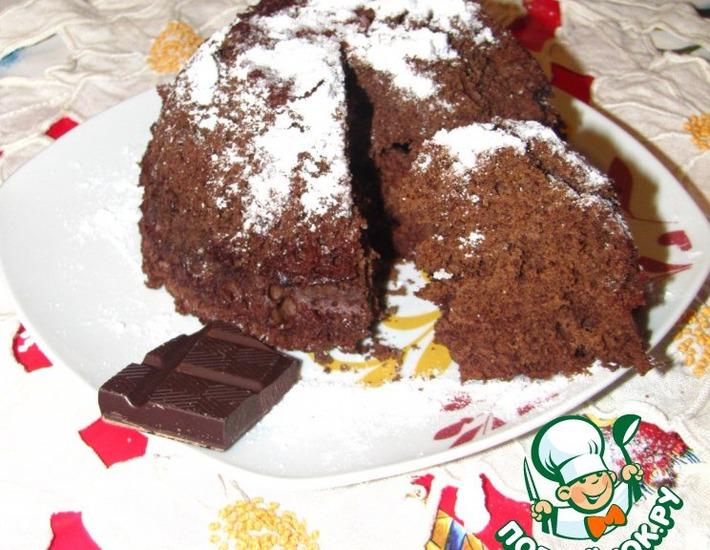 Рецепт: Шоколадный пирог из микроволновки Чудо