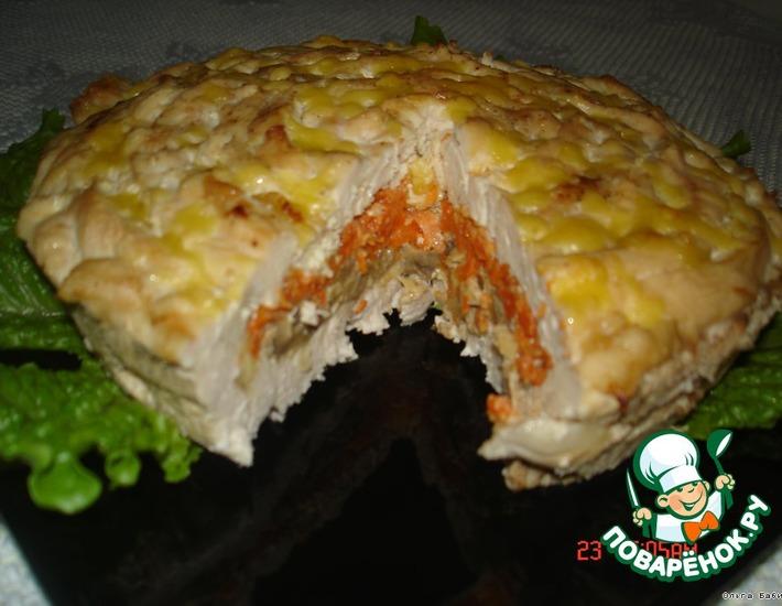 Рецепт: Мясной пирог Чайная роза