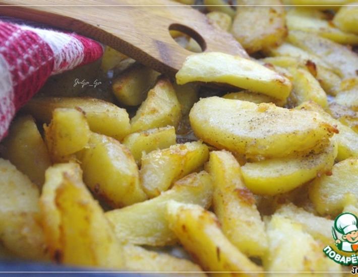 Рецепт: Картофель, запечeнный с имбирeм и чесноком