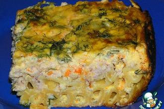 Рецепт: Запеканка из макарон с курицей