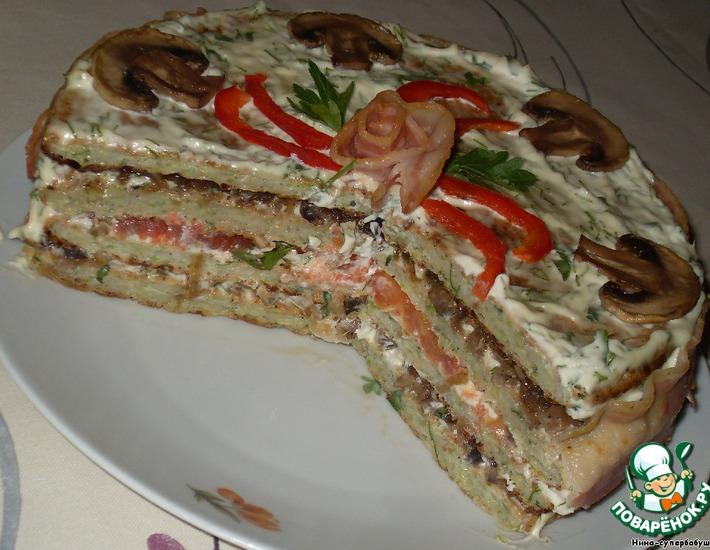 Рецепт: Кабачковый торт для неленивой хозяйки