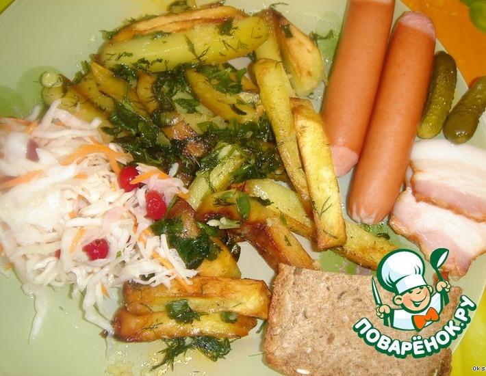 Рецепт: Жареный картофель По-македонски