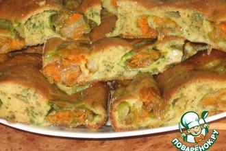 Рецепт: Овощной пирог-запеканка Нежность