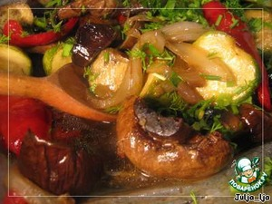 Baked vegetables in a delicious marinade