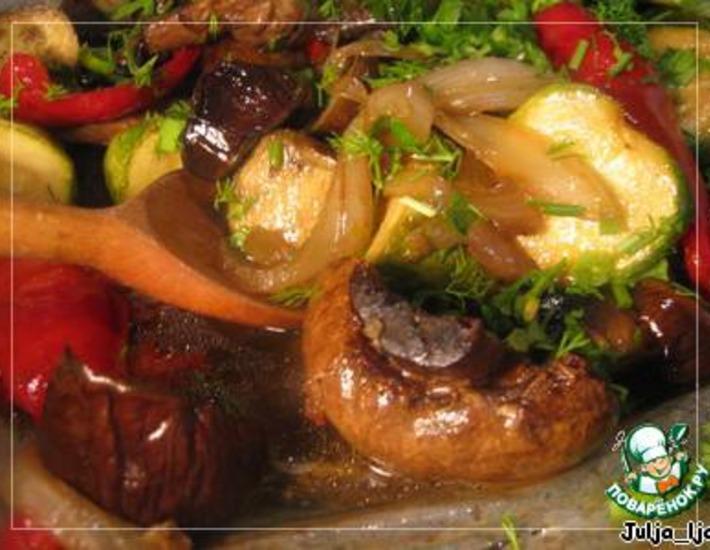 Рецепт: Запечeнные овощи во вкуснейшем маринаде