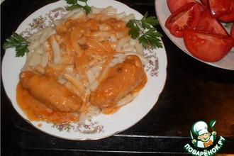 Рецепт: Крученики из куриного филе