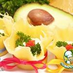 Сырные тарталетки с авокадно-творожной начинкой