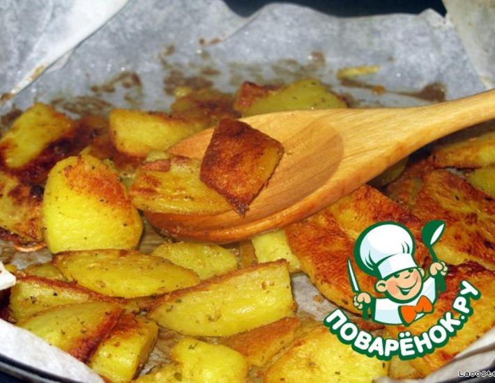 Рецепт: Картофельные ломтики с горчицей
