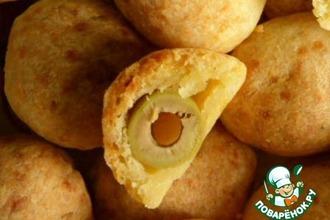 Рецепт: Сырные оливки