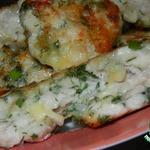 Рубленые куриные котлеты с сыром и зеленью