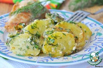 Рецепт: Картофель со сливками и укропом