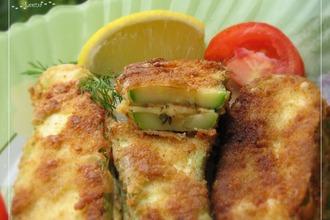Рецепт: Кабачковые сэндвичи с сыром в хрустящем кляре