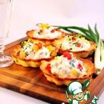 Тарталетки Картошка-селедка-огурчик