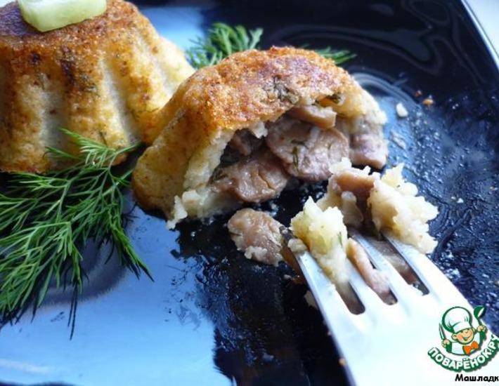 Рецепт: Кексы картофельные с грибами