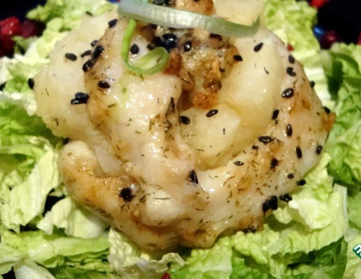 Рецепт: Рыбные розочки с картофелем