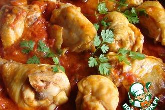 Рецепт: Курица в томатно-сметанном соусе