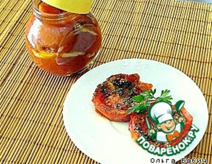 Рецепт: Вяленые томаты из микроволновки