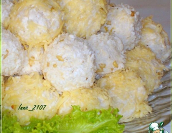 Рецепт: Закуска Рафаэлло из куриной грудки