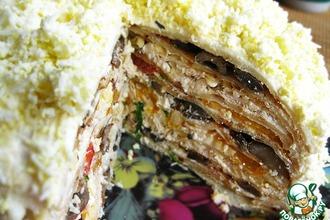 Рецепт: Закусочный блинный торт