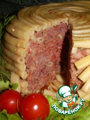 Timbal meat with mushrooms