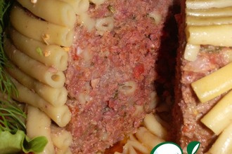 Рецепт: Тимбаль мясной с шампиньонами