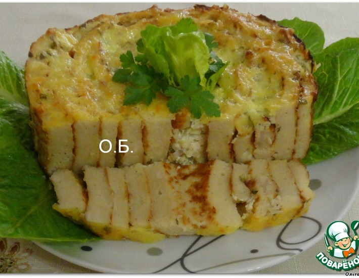 Рецепт: Закусочный торт Мясной лабиринт
