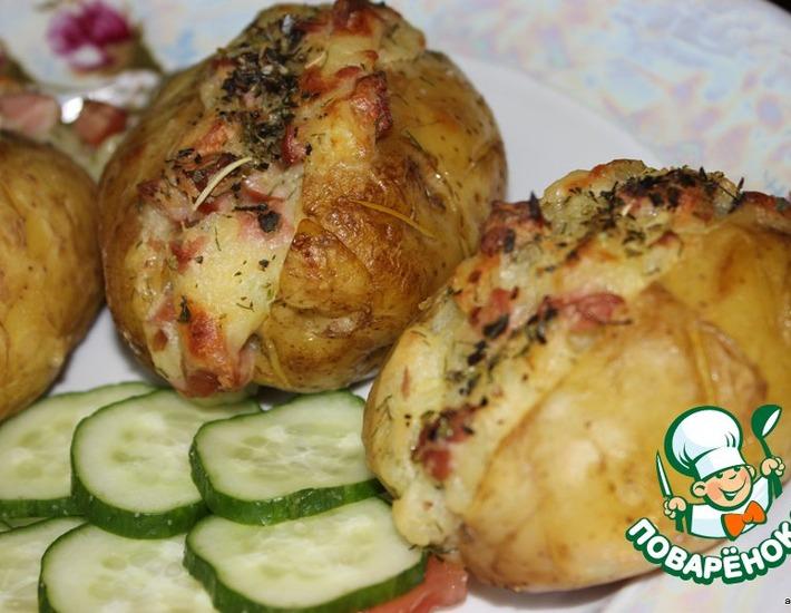 Рецепт: Запеченный картофель по-американски