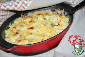 Potato gratin Swiss
