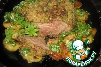 Рецепт: Свинина, запечeнная с картофелем
