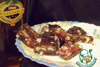 Рецепт: Сыровяленая колбаса