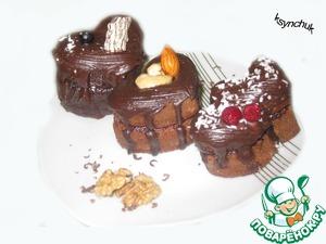 Шоколадные маффины с повидлом – кулинарный рецепт