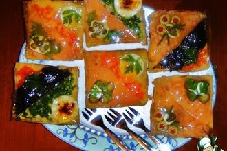 Рецепт: Закусочные бутерброды «Под стеклом»
