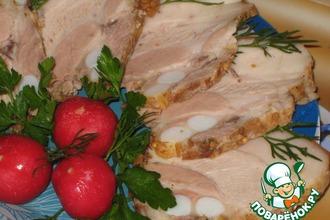 Рецепт: Грудинка свиная «Варено-копченая»