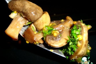 Рецепт: Быстрые маринованные шампиньоны